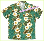 Women Hawaiian Shirt - 449Green