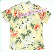Women Hawaiian Shirt - 466Yellow