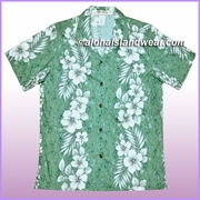 Women Hawaiian Shirt - 805Green