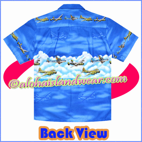 42069fd85a70a2 World War 2 Aircraft Hawaiian Shirt