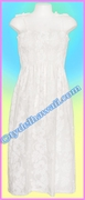 White Full Length Hawaiian Smock Dress - 213White