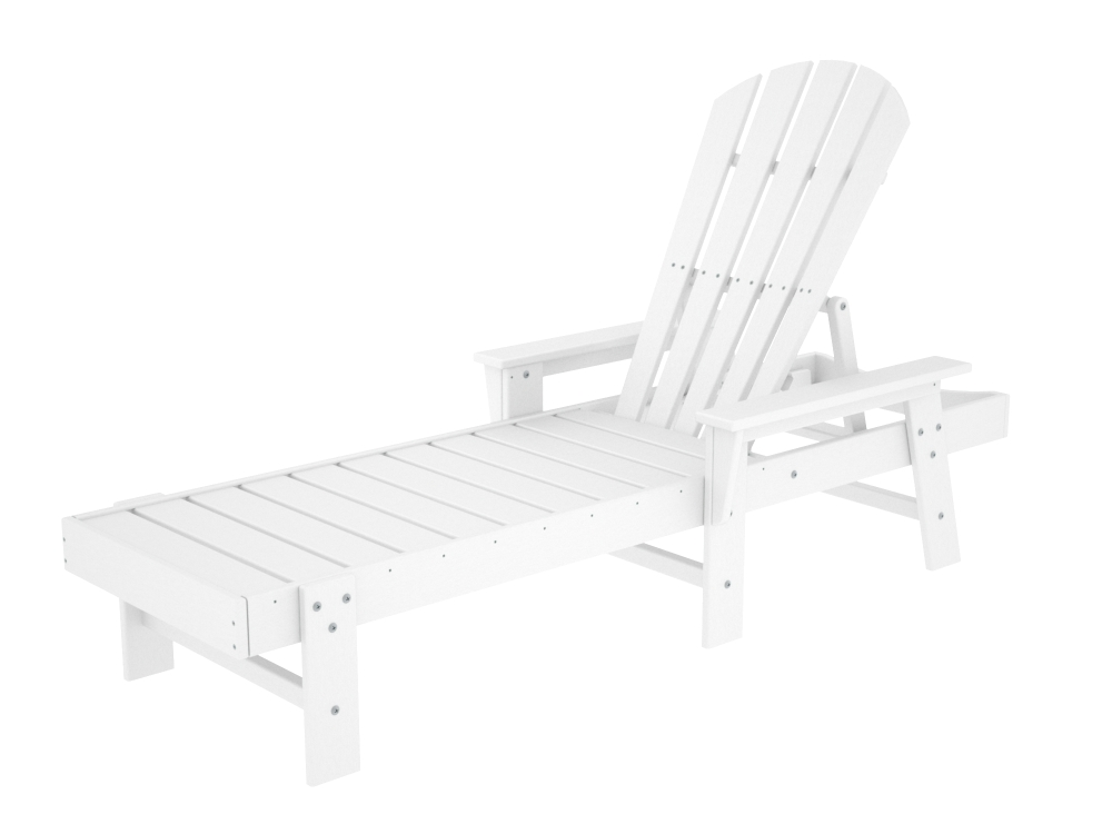 Polywood south beach adirondack chaise lounge for Chaise lounge beach