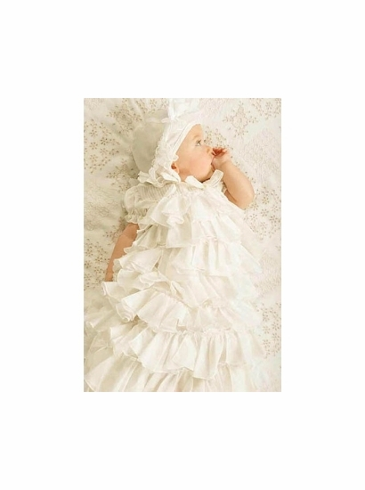 Biscotti Baby Gown and Bonnet Two Piece Set