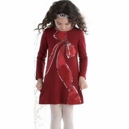 "Biscotti ""Bow Perfection"" HOLIDAY Red A Line Sequin Special Ocassion Dress *FINAL SALE* SOLD OUT"