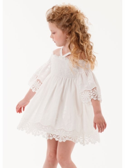 Biscotti White Eyelet Dress  SIZE 7
