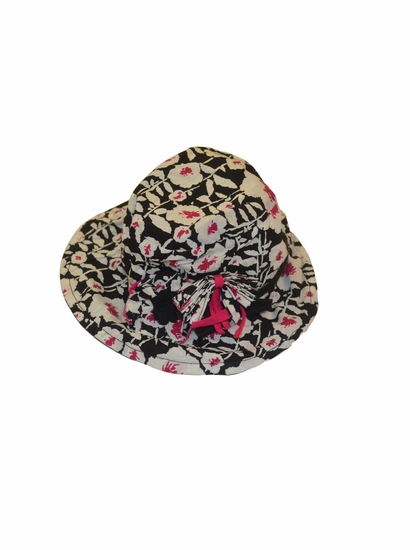 "Eliane et Lena ""Ura"" Sweet Black and Floral Spring Hat *FINAL SALE* Size 4"