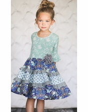 Giggle Moon Brilliant Sapphire Blue Baby Party Dress FINAL SALE  SOLD OUT
