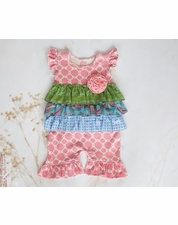 "Giggle Moon ""Children of Love"" Pink Baby Longall SIZE 12m"
