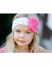 Giggle Moon Children of Love Pink & Pale Blue Knit Headband  SIZE INFANT