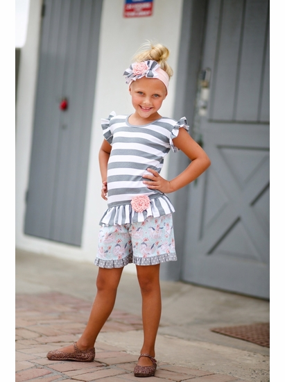 Giggle Moon Fillies of Love Two Piece Short Set  SIZE 3T