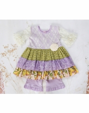 Giggle Moon Lemon Love Esther Two Piece Lavender Dress Set FINAL FEW