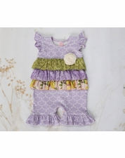 Giggle Moon Lemon Love Lavender Baby Ruffle Shortall
