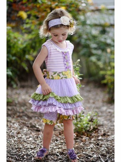 Giggle Moon Lemon Love Lavender Ruth Tutu Dress & Crop Legging Two Piece Set