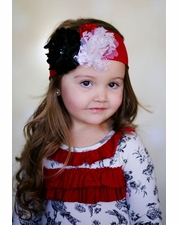 "Giggle Moon ""Pure Gold"" Versatile Red Knit Holiday Headband *FINAL SALE* SIZE M"