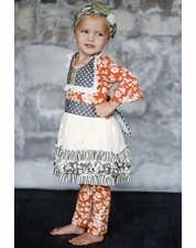 "Giggle Moon ""Wall of Jasper"" Fall Ruth Tutu Dress and Legging Two Piece Set *FALL FAVORITE*"