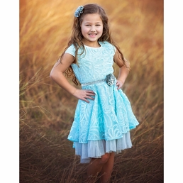 "Haute Baby ""Elsa's Magic"" Stunning Layered Dress *FINAL SALE* SOLD OUT"