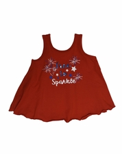 """Haven Girl """"4th of July"""" Sparkle Kari Tank Top"""