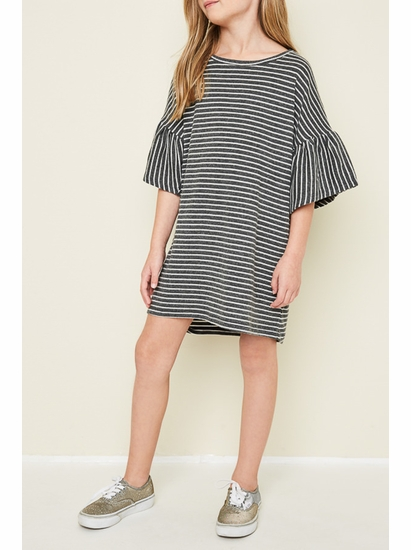 Hayden Charcoal Stripe Swing Dress *SOLD OUT