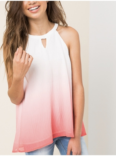 Hayden Coral Ombre Layered Tank Top SOLD OUT