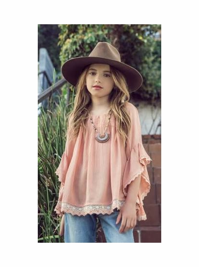 e73910f9d555 Hayden Girls Apricot Off the Shoulder Tunic Top