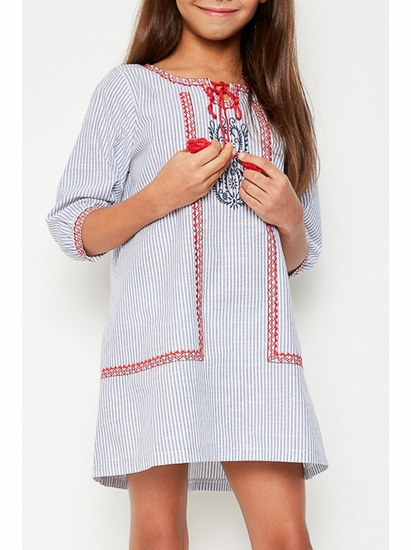 Hayden Light Denim Embroidered Tunic Dress *SOLD OUT