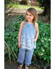 Isobella and Chloe Sweetwater Blue Pant Set SIZE 12m