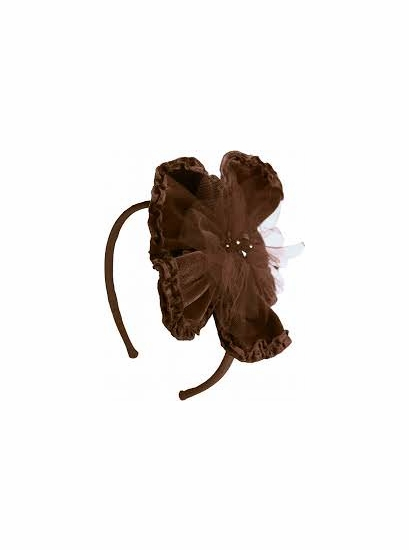 Isobella & Chloe Dark Chocolate Velvet Flower Headband *FINAL SALE*