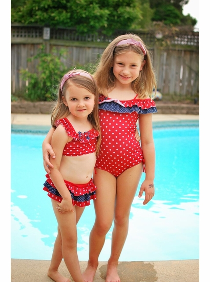 Isobella & Chloe Red Two Piece Swimsuit SIZE 3T