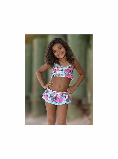 Isobella & Chloe Eureka Skirted Bikini Swimsuit