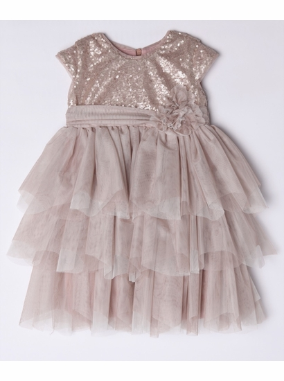 Isobella & Chloe Light Pink Empire Waist Formal Dress FINAL SALE SIZE 3T