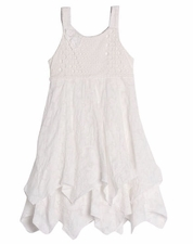 "Isobella & Chloe White ""Mia"" PORTRAIT Cotton Dress *SIZE 6X"