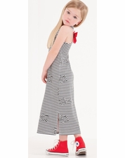 "Kate Mack ""Bows Ahoy"" Black & White Stripe Maxi Dress  *FINAL SALE*"