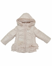 Kate Mack Champagne Hooded WARMEST Winter Baby & Toddler Jacket OUT OF STOCK