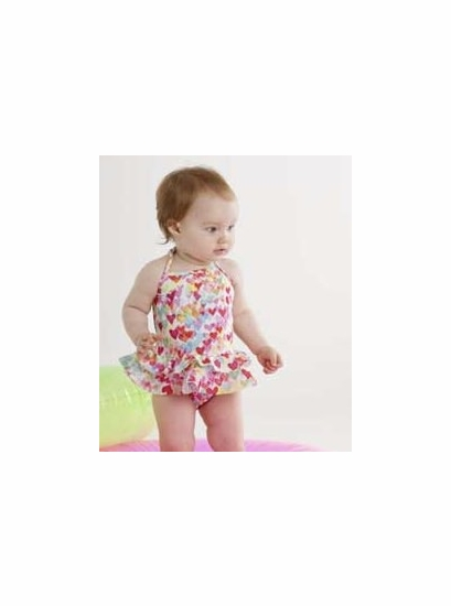 """Kate Mack Colorful """"Love is in the Air"""" BABY Two Piece Skirted Tankini *FINAL SALE* SOLD OUT"""