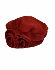 Kate Mack Essential Red Fleece Winter Hat
