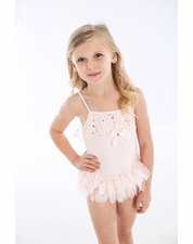 "Kate Mack ""Fairy Dance"" Pink Skirted One Piece Swimsuit *FINAL SALE* SIZE 6X"