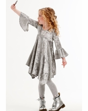 Kate Mack Gray Crushed Velvet Angelic Dress SOLD OUT