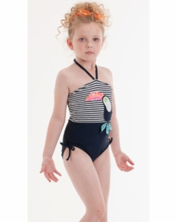 Kate Mack Navy & White Parrot One Piece Halterneck Tank Swimsuit *BEST SELLER*