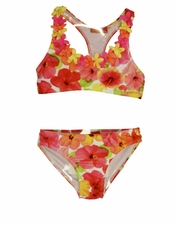"Kate Mack ""Paradise Island"" Racerback Floral Two Piece Bikini SOLD OUT"