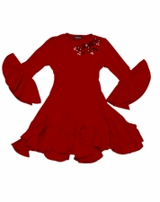 Kate Mack Red Fit and Flare Swirl Dress *FLYING FAST!