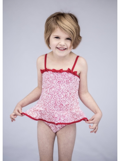 Kate Mack Red Roses Two Piece Tankini SIZE 12m
