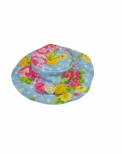 Kate Mack Spring Blue Floral Hat