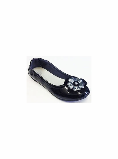 Lelli Kelly Black Patent Leather Fancy TODDLER Flats *FINAL SALE*