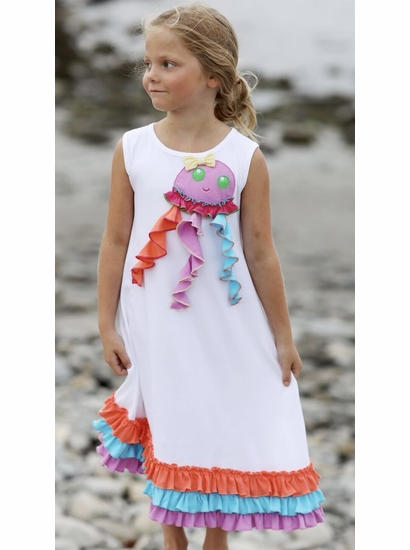 Lemon Loves Lime Happy Jellyfish Dress SIZE 3
