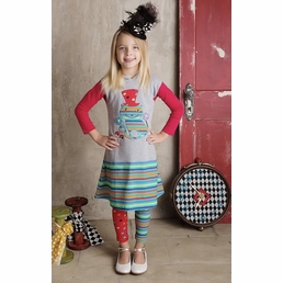 Lemon Loves Lime Heather Gray Alice in Wonderland Mix It Up Dress