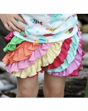 Lemon Loves Lime Rainbow Ruffle Skort