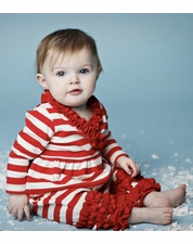 Lemon Loves Lime Red & Eggnog Peppermint Baby Romper *FINAL SALE* OUT OF STOCK