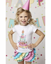 Lemon Loves Lime WHITE Birthday Embellished Tee