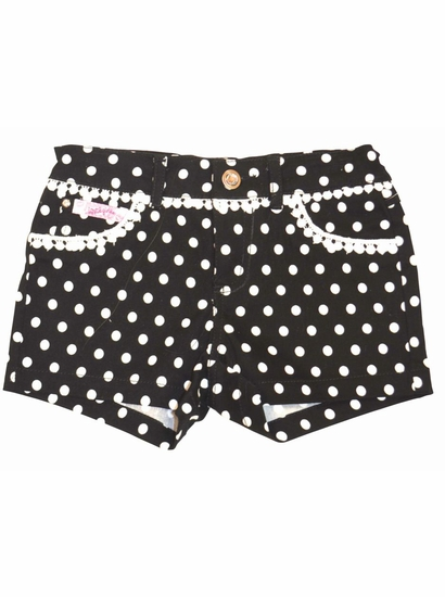 Lipstik Girls Precious Black & White Dotted Stretch Shorts *FINAL SALE* SOLD OUT