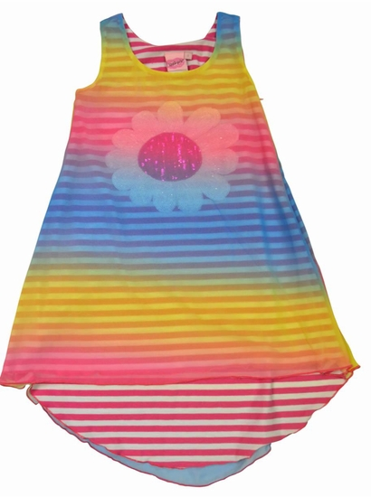 Lipstik Girls Rainbow Colored Tank HI-LO Dress w/Overlay *FINAL SALE* SOLD OUT